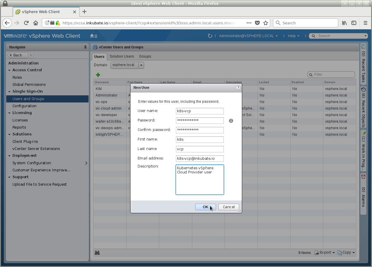 Install and manage automatically a Kubernetes cluster on VMware