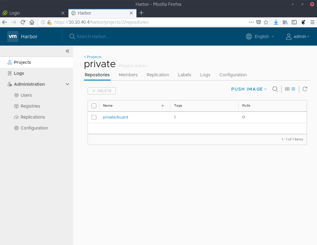 How to install and use VMware Harbor private registry with