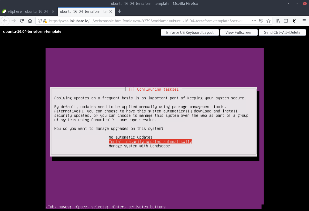 Create a Ubuntu 16 04 Terraform template for VMware vSphere