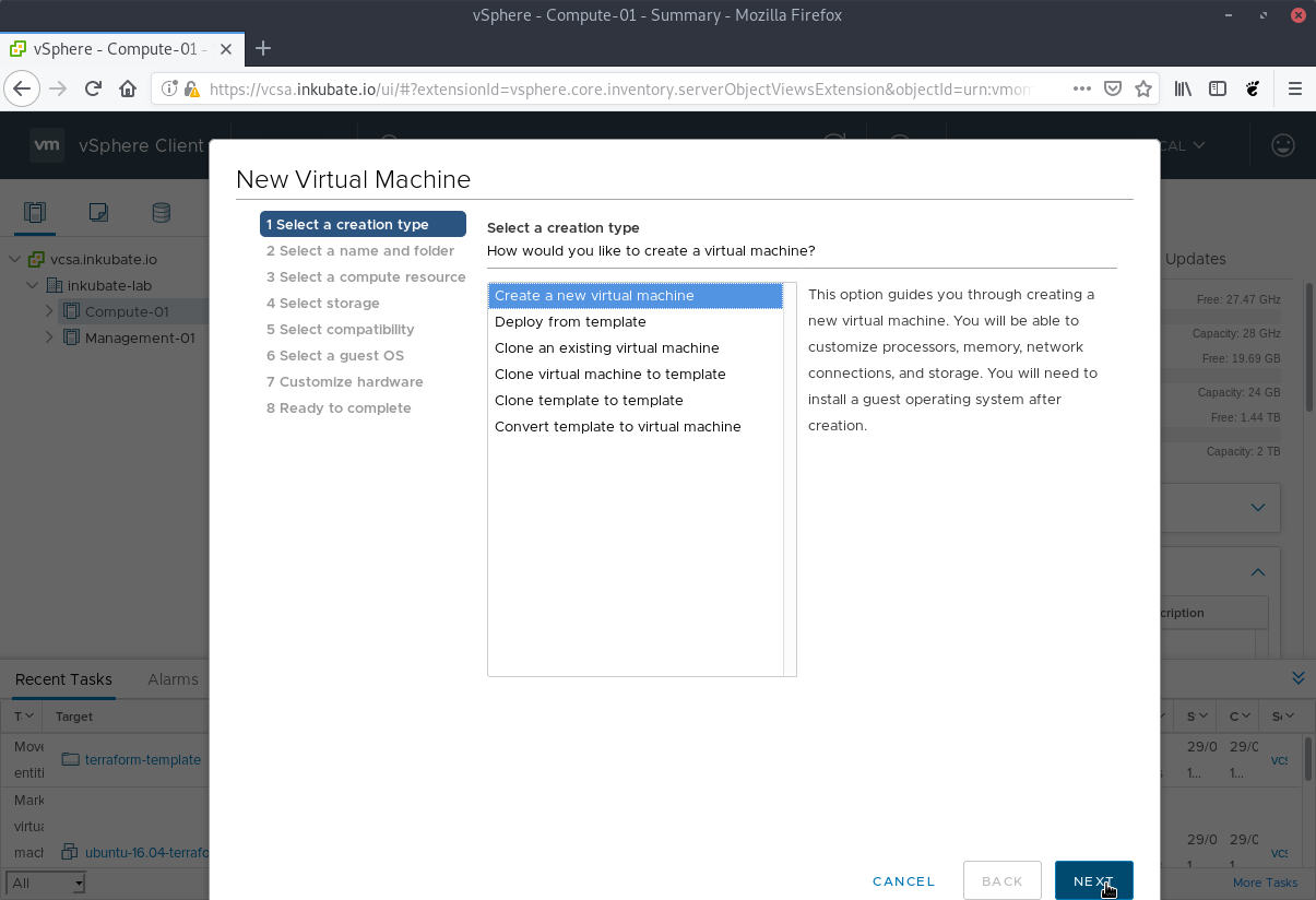 Create a Ubuntu 18 04 Terraform template for VMware vSphere