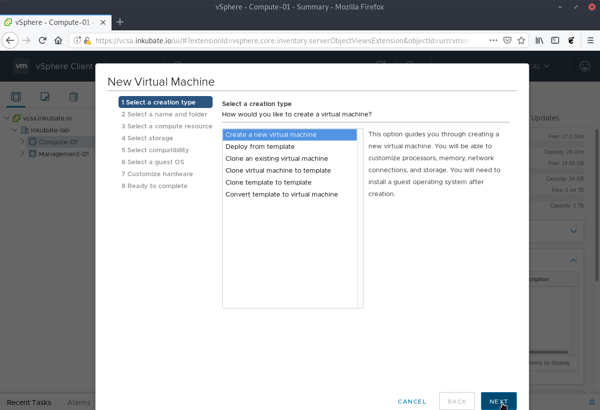 Create a CentOS 7 Terraform template for VMware vSphere